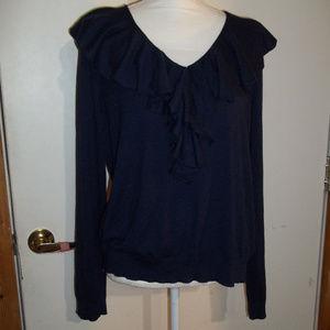 Lauren Ruffled Sweater XL